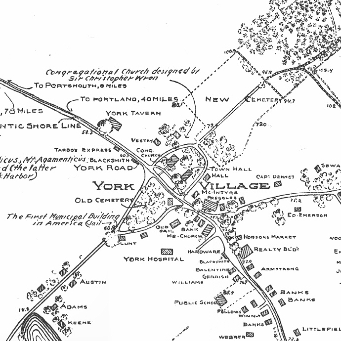 Drawing - York Village Map