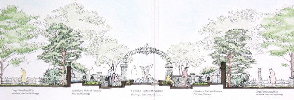 Memorial Garden Watercolor - Upper Woodlands Expansion