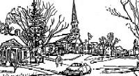 York Village Pen & Ink